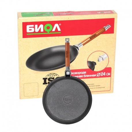 Сковорода блинная с ровными бортами (240 мм) 04241