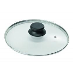 """Крышка стеклянная низкая с металлическим ободом для посуды """"Биол"""" (200мм)"""