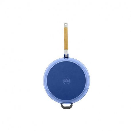 Сковорода чугунная эмаль (синий) 28 см БИОЛ со съемной ручкой